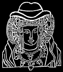Dibujo - Dama de Elche con sombrero