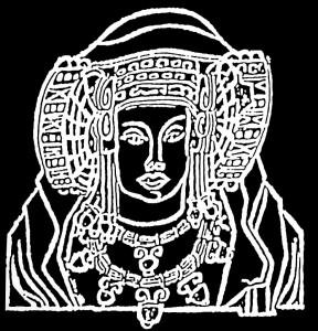 Dibujo - Dama de Elche en negativo