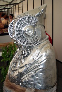 Escultura - Dama de Elche plateada