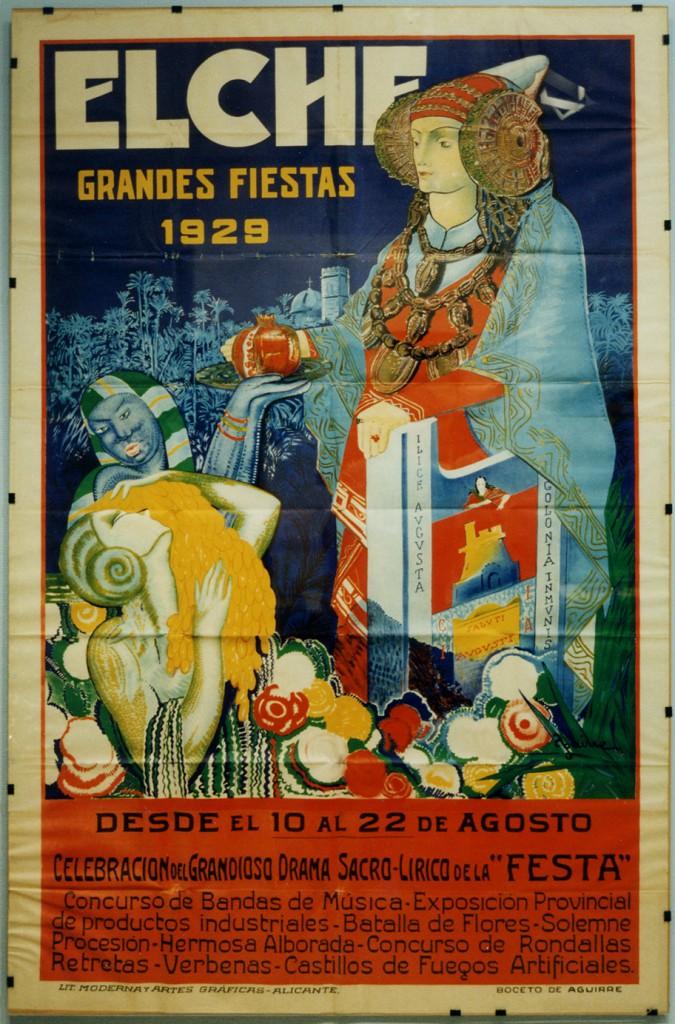 Cartel - Elche Grandes Fiestas de 1929