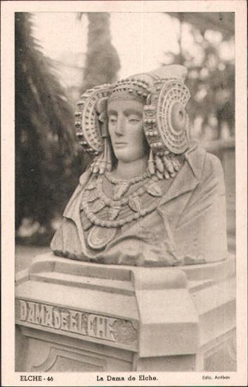 Tarjeta postal - Dama Elche Glorieta
