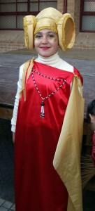 Dama viviente - Disfraz Niña
