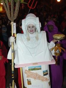 Dama viviente - Disfraz Dama Blanca