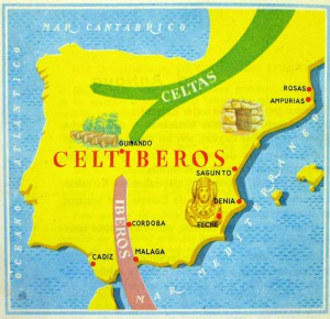 Dibujo - Mapa de España con Dama de Elche