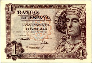 Timbre - Billete 1 Peseta