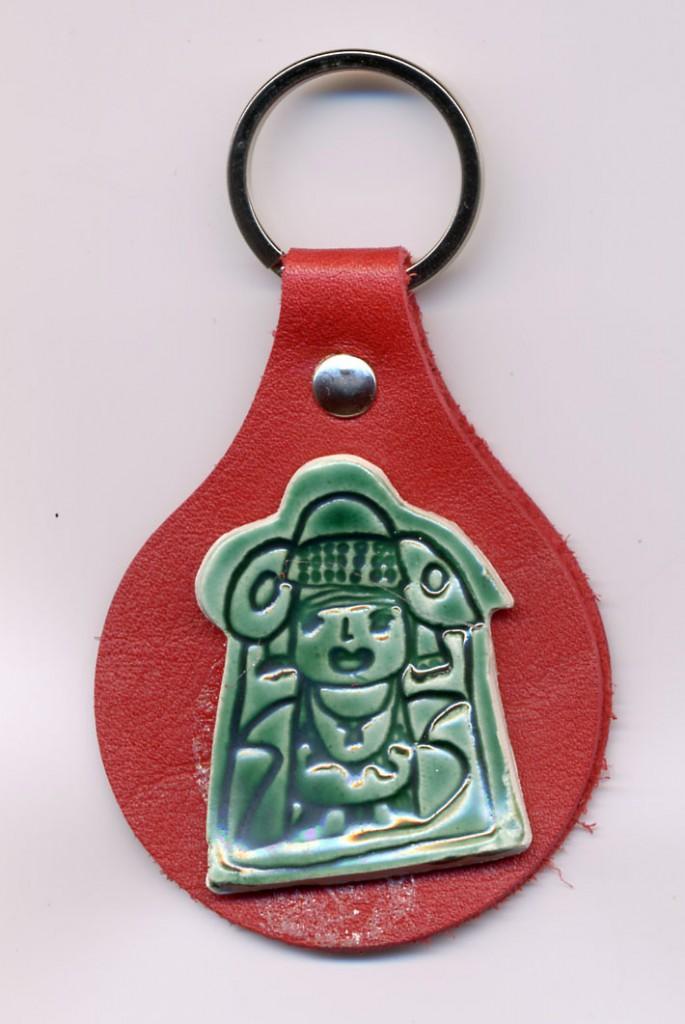 Objeto - Llavero Dama de cerámica