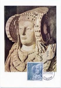 Tarjeta postal - Dama de Elche Primer día