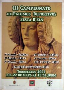 Cartel - III Campeonato de Palomos Deportivos Festa d'Elx