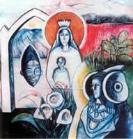 Pintura - Andalucian Madonna and Phoenician Priestess