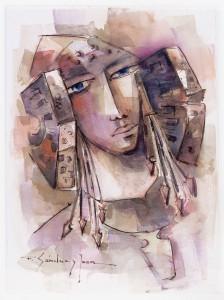 Pintura - La Mirada de la Dama