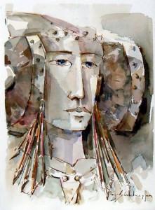 Pintura - Cabeza de la Dama