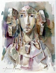 Pintura - La Dama de frente