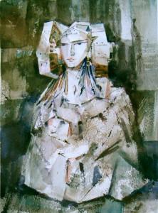 Pintura - Dama con busto