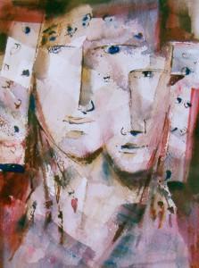 Pintura - Damas siamesas