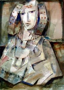 Pintura - Dama melancólica