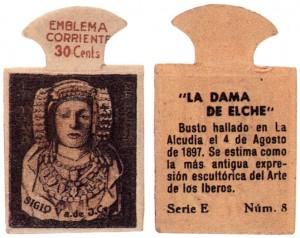 Timbre - Emblema corriente 30 céntimos.