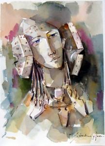 Pintura - Una mirada de la Dama