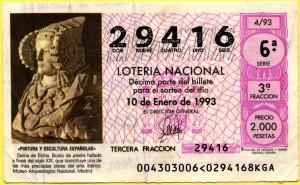 Timbre - Décimo lotería 1993