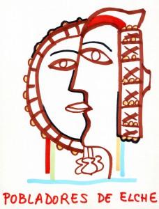 Dibujo - Boceto para Pobladores de Elche