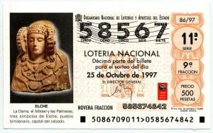 Timbre - Décimo lotería 1997