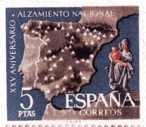 Timbre - Sello Riegos 5 pesetas