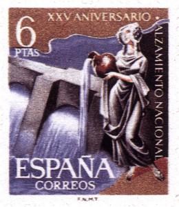 Timbre - Sello Central Hidroeléctrica 6 pesetas
