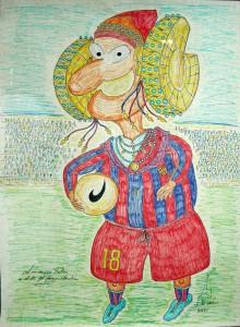 Dibujo - Caricatura jugador CF Barcelona