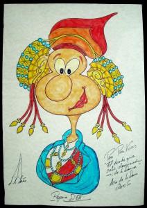 Dibujo - Caricatura Dama de Elche