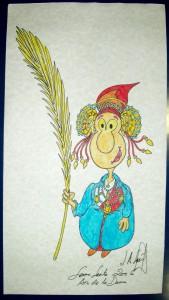 Dibujo - Caricatura Dama de Ramos