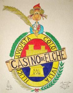 Dibujo - Caricatura Dama Escudo Casino