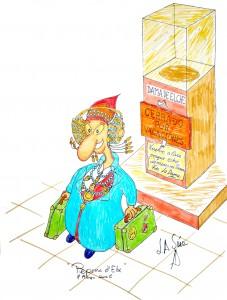 Dibujo - Caricatura Dama de Vacaciones