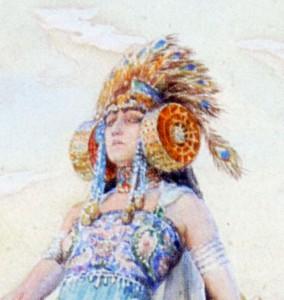 Pintura - Mort de Salammbô (fragmento)