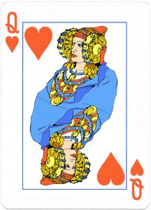 Dibujo - Reina de corazones