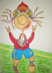 Dibujo - Caricatura Dama de Elche Selección Española