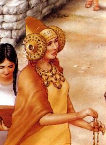 "Dibujo - Dama ""Los Iberos"" fragmento"