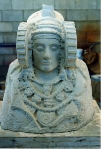 Escultura - Dama de Elche inacabada