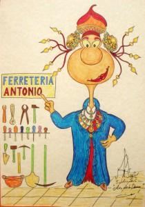 Dibujo - Caricatura Dama de Elche Ferretería Antonio