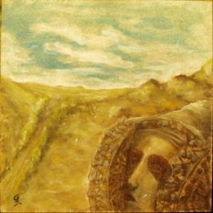 Pintura - Dama de Elche-pisapapeles