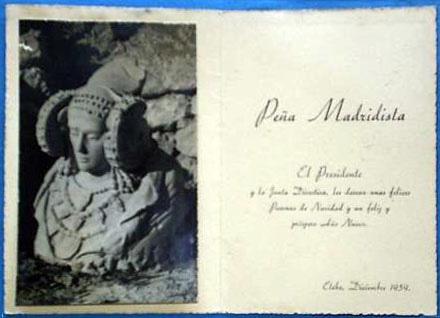 Libro o impreso - Felicitación Peña Madridista Ilicitana