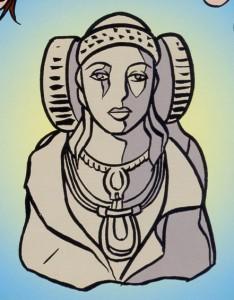 Dibujo - Cuento sobre el descubrimiento de la Dama
