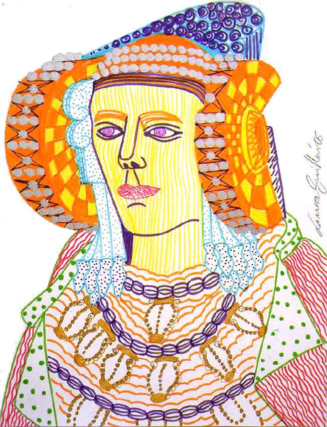 Dibujo - Dama de Elche-III