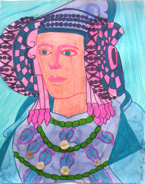 Dibujo - Dama de Elche-II