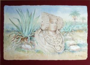 Pintura - Dama en La Alcudia