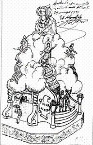 Dibujo - Boceto Foguera 1931