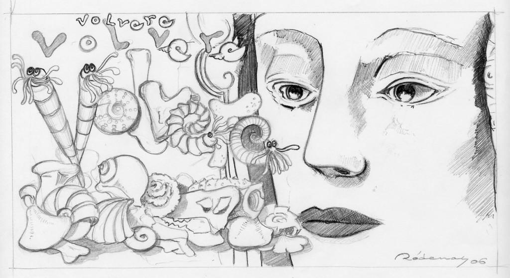 Dibujo - Boceto para Tarjeta Navidad MUPE