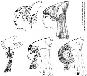 Dibujo - Tocado de la Dama de Elche
