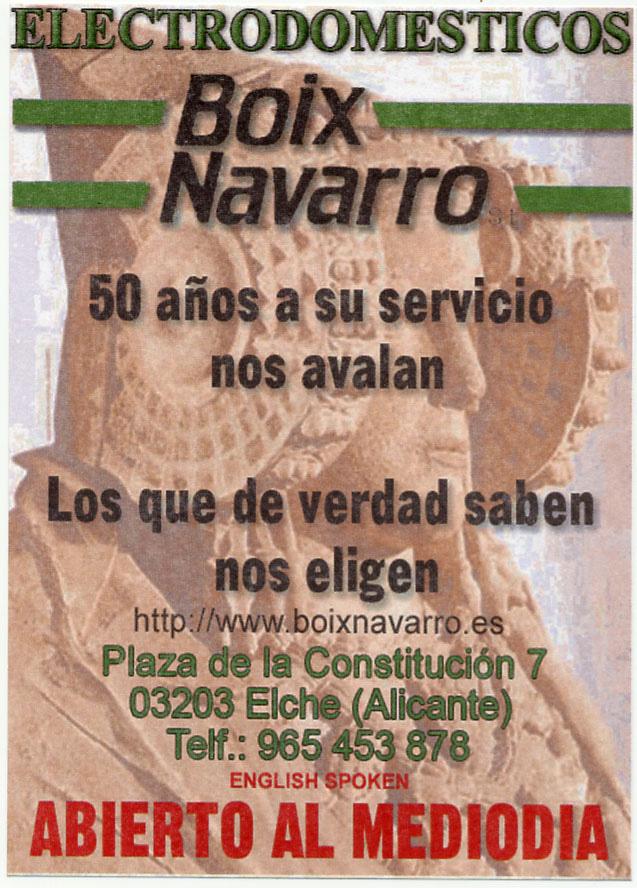 Anuncio - Electrodomésticos Boix Navarro