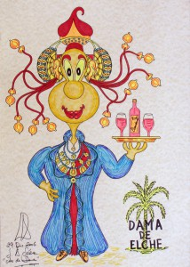 Dibujo - Caricatura Dama de Elche Camarera