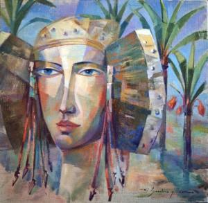 Pintura - Dama entre palmeras 1806