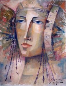 Pintura - Los rodetes de la Dama 2206